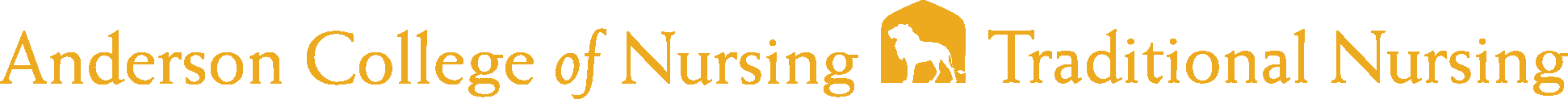 Anderson College of Nursing Traditional Logo - Gold - Version 2