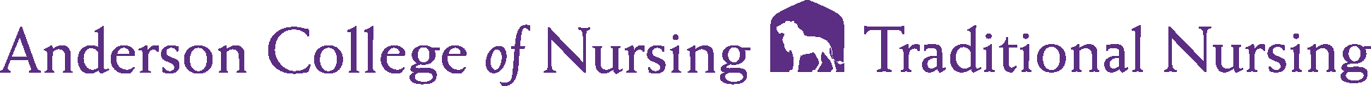 Anderson College of Nursing Traditional Logo - Purple - Version 2