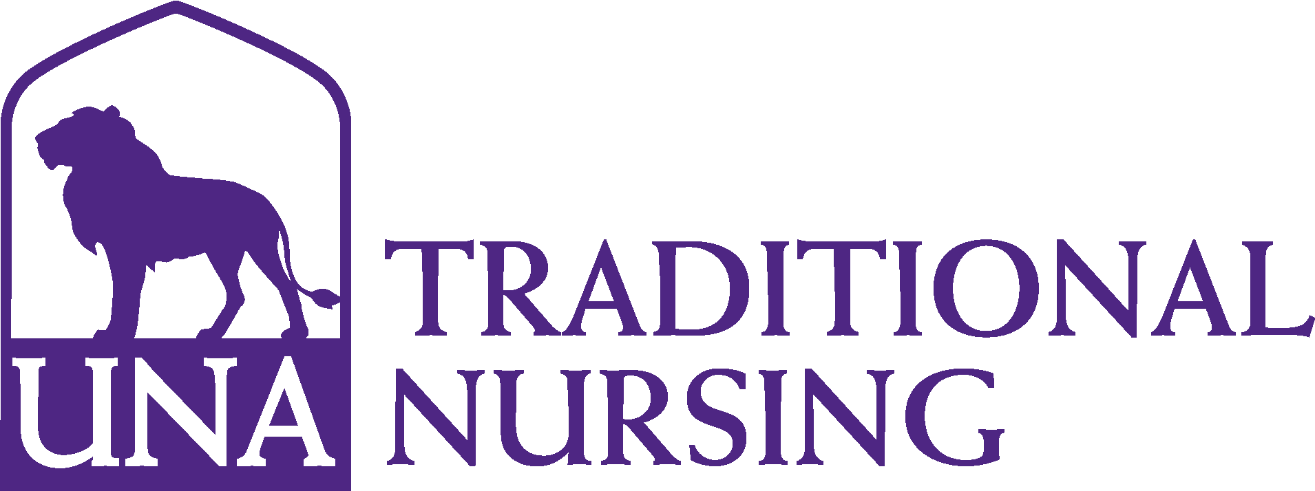 Anderson College of Nursing Traditional Logo - Purple - Version 3