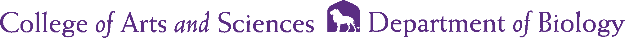 College of Arts and Sciences - Biology Logo - Purple - Version 2
