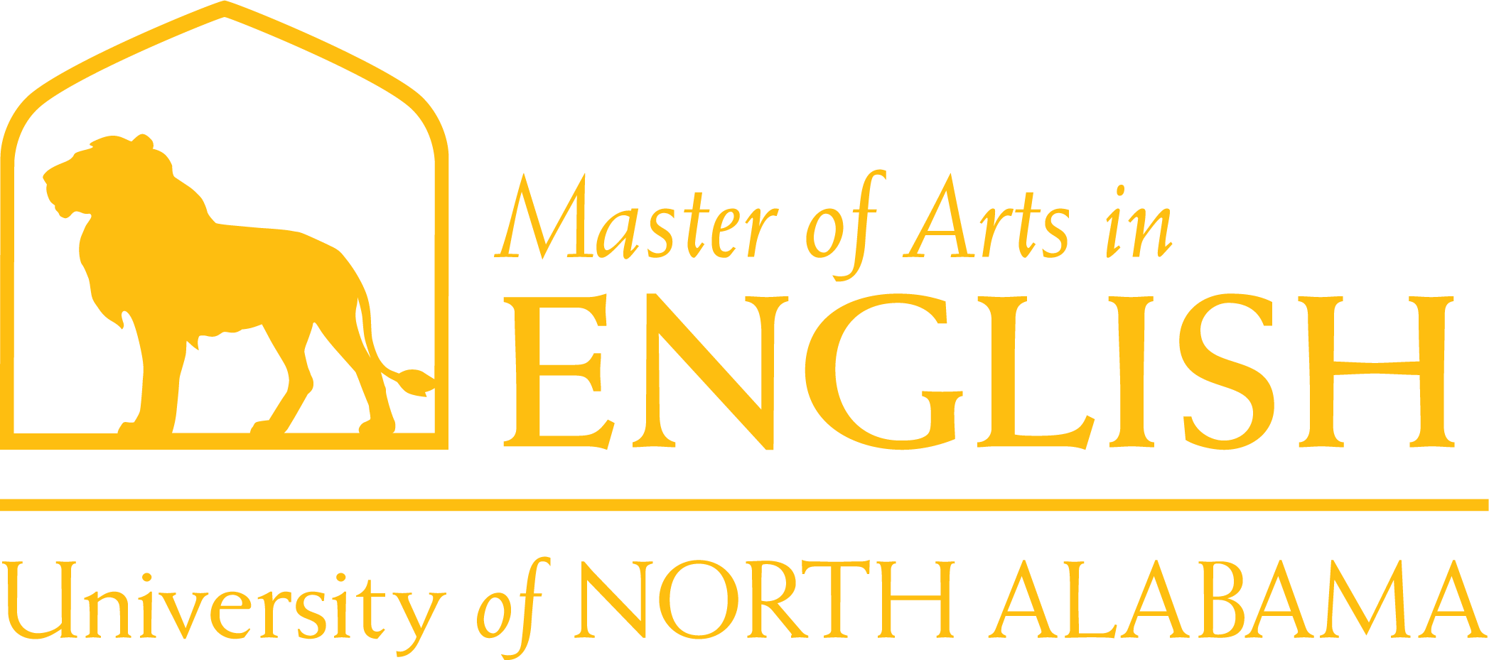 English Masters Dept Logo in Gold
