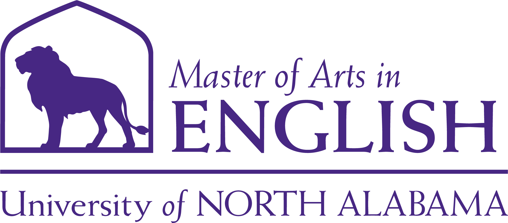 English Masters Dept logo in Purple