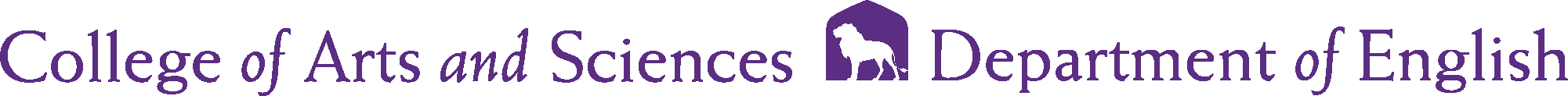 College of Arts and Sciences - English Logo - Purple - Version 2