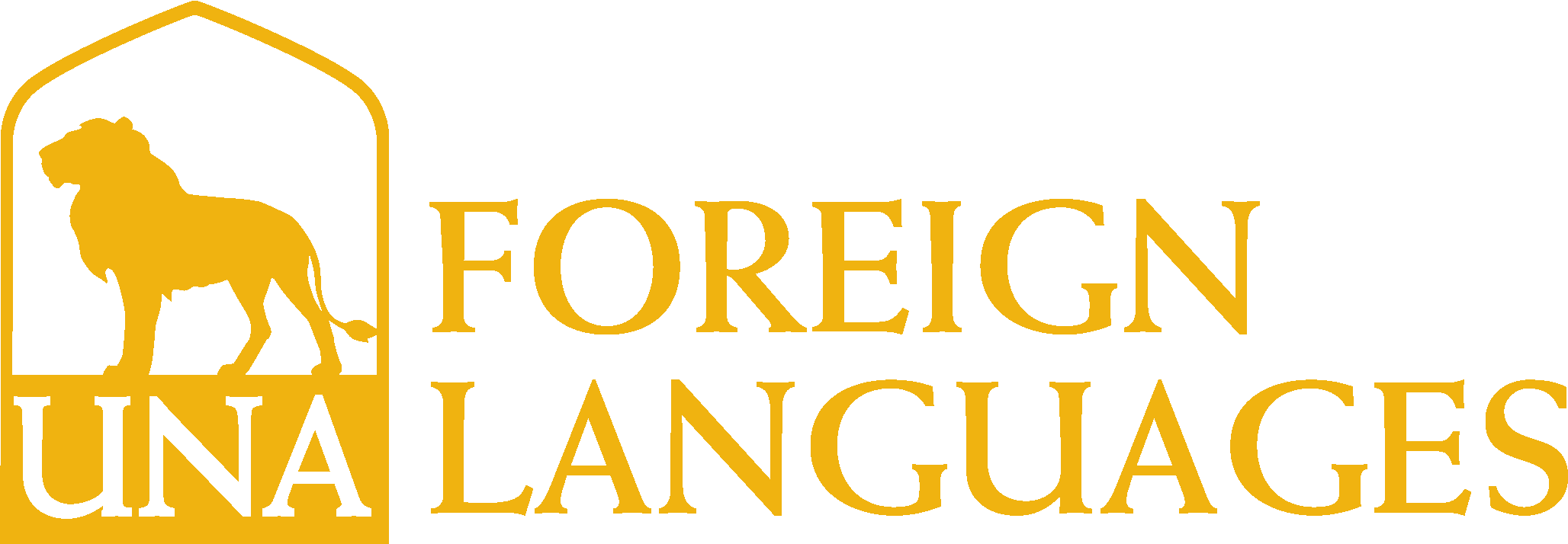 College of Arts and Sciences - Foreign Languages Logo - Gold - Version 3