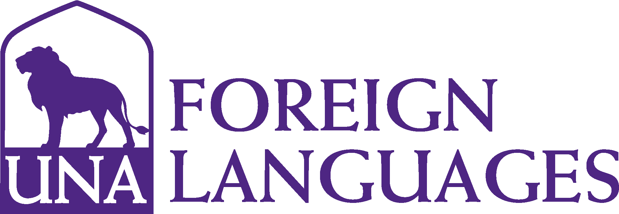 College of Arts and Sciences - Foreign Languages Logo - Purple - Version 3