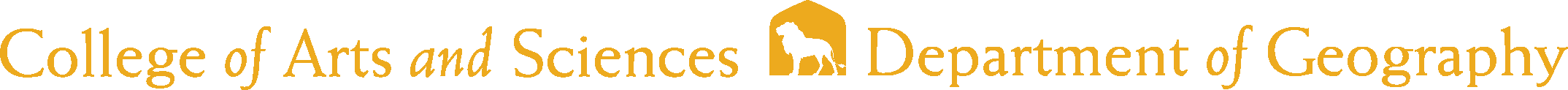 College of Arts and Sciences - Geography Logo - Gold - Version 2