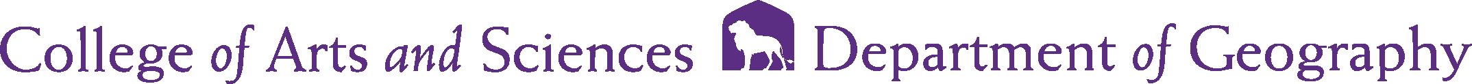 College of Arts and Sciences - Geography Logo - Purple - Version 2