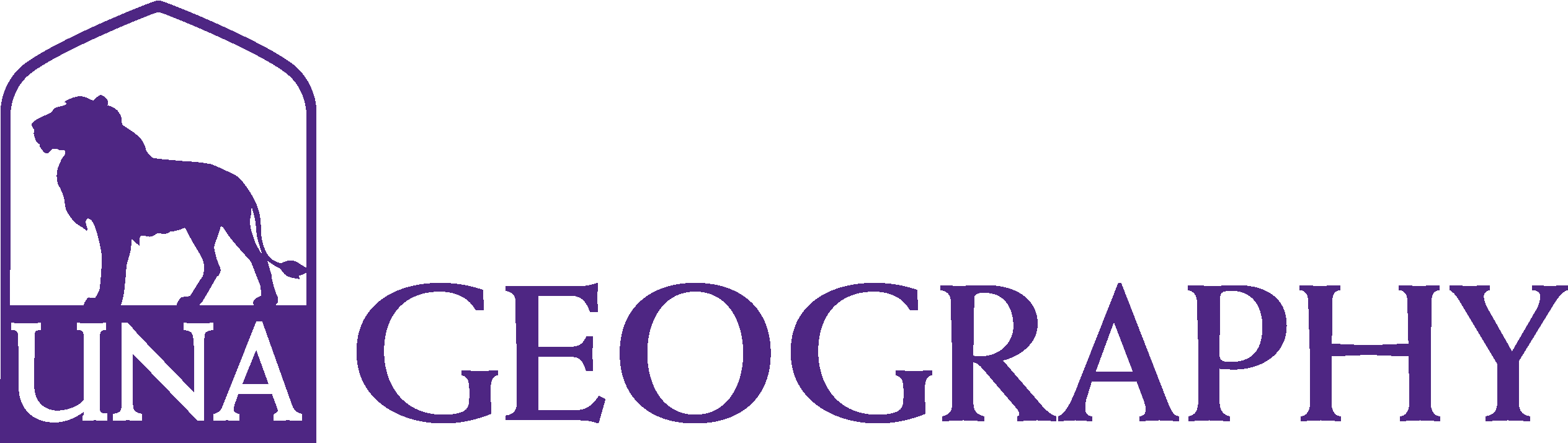 College of Arts and Sciences - Geography Logo - Purple - Version 3