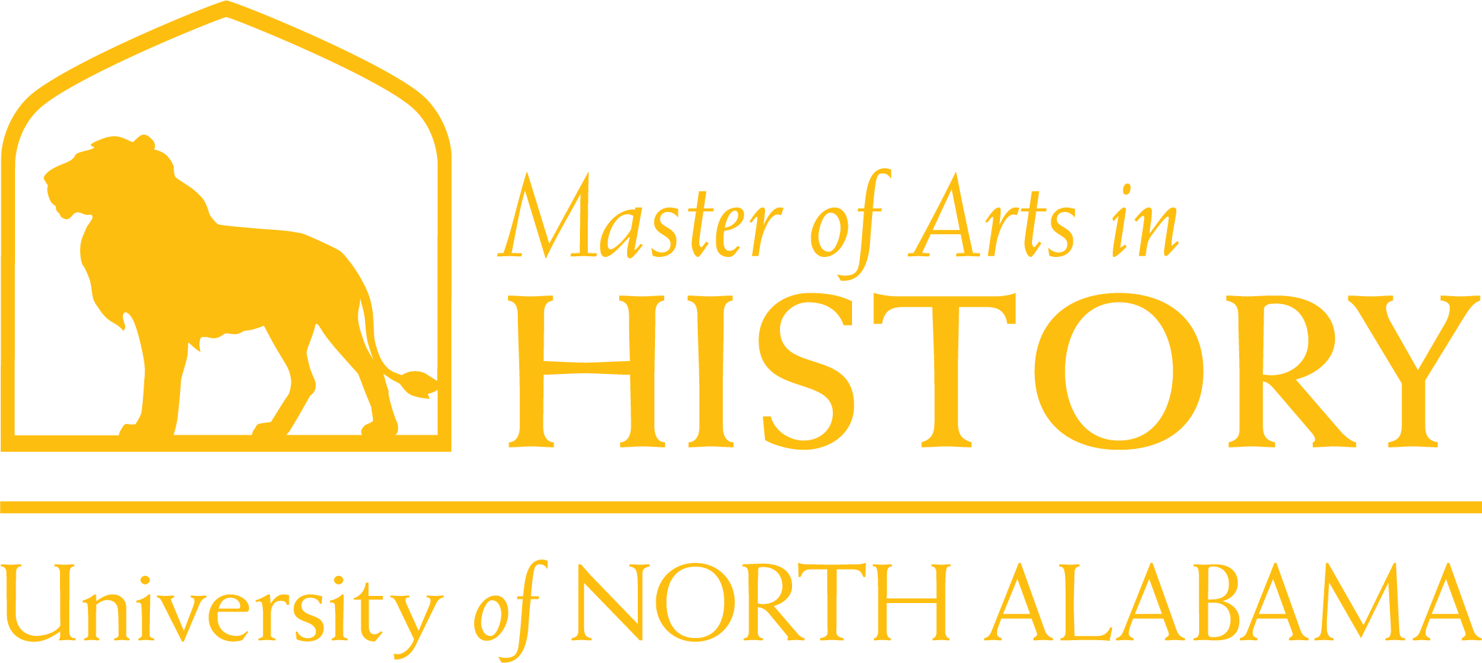 History Masters Dept Logo in Gold