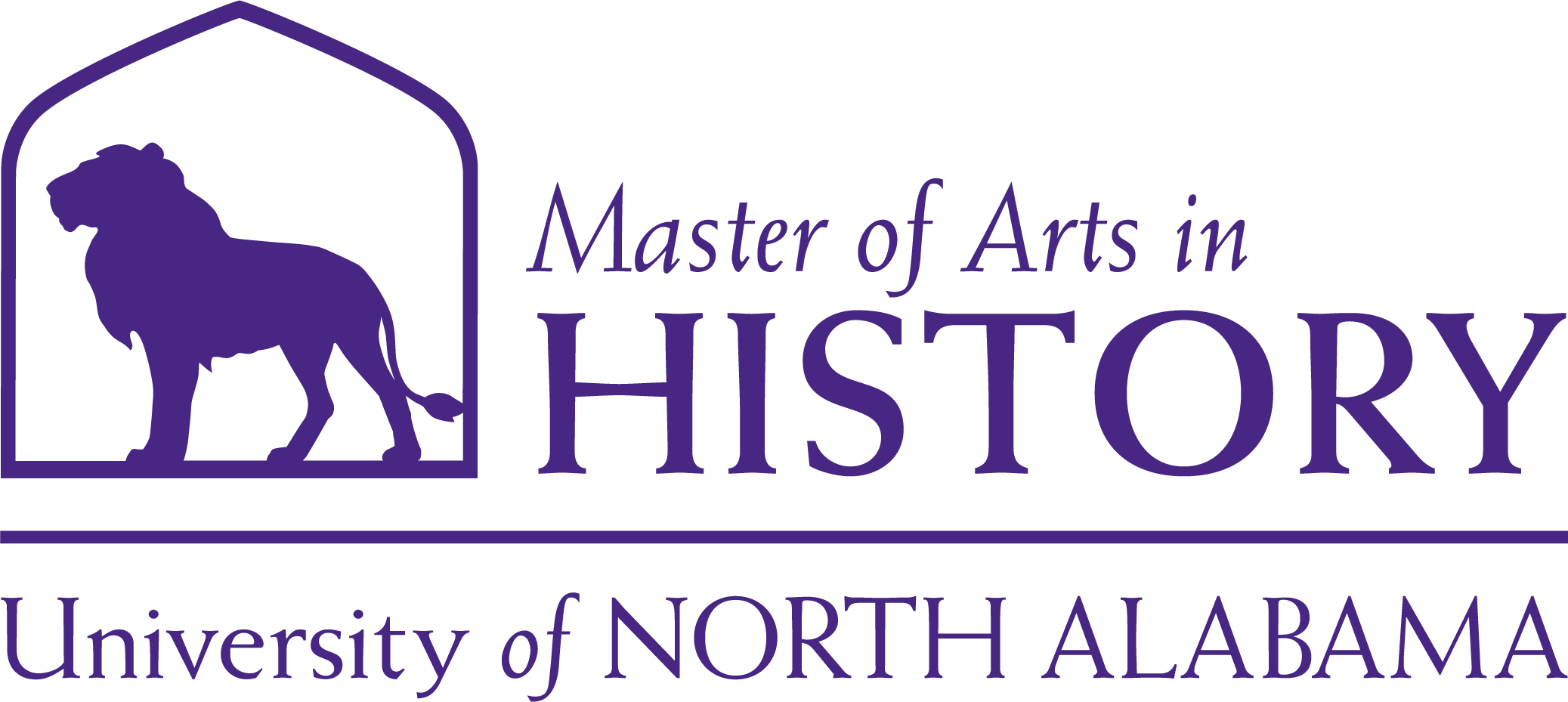History Masters Dept logo in Purple