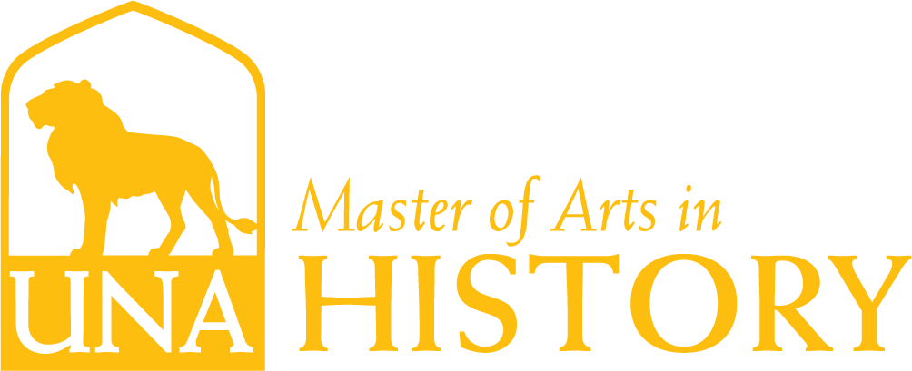 History, M.A. Dept Merchandise Logo in Gold
