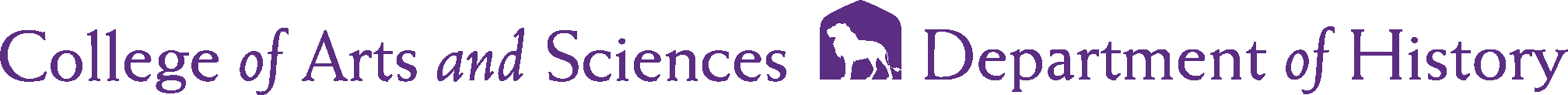 College of Arts and Sciences - History Logo - Purple - Version 2