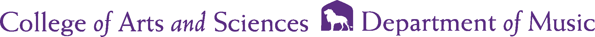 College of Arts and Sciences - Music Logo - Purple - Version 2