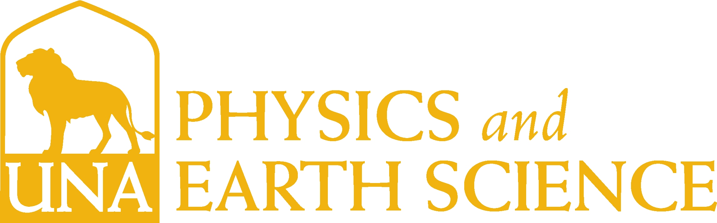 College of Arts and Sciences - Physics and Earth Science Logo - Gold - Version 3