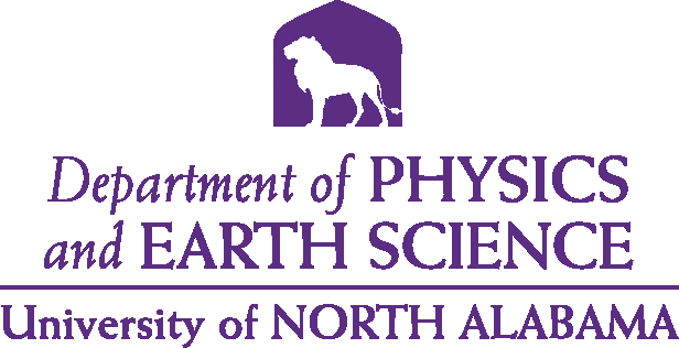 College of Arts and Sciences - Physics and Earth Science Logo - Purple - Version 4
