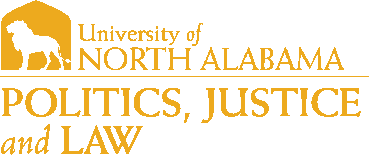 College of Arts and Sciences - Politics Justice and Law Logo - Gold - Version 1