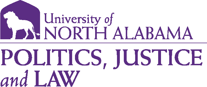College of Arts and Sciences - Politics Justice and Law Logo - Purple - Version 1