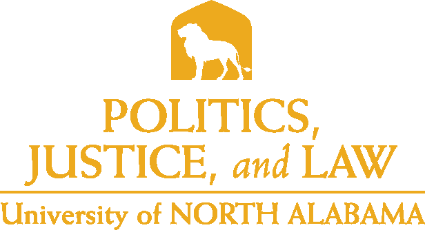 College of Arts and Sciences - Politics Justice and Law Logo - Gold - Version 5