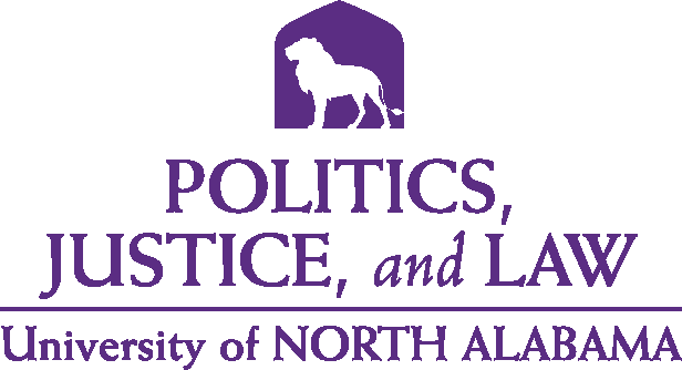 College of Arts and Sciences - Politics Justice and Law Logo - Purple - Version 5