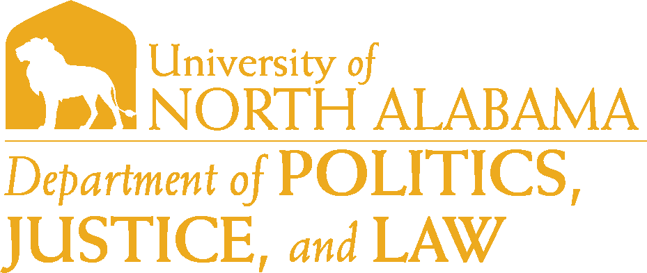 College of Arts and Sciences - Politics Justice and Law Logo - Gold - Version 6