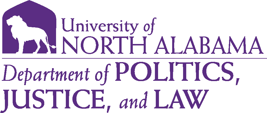 College of Arts and Sciences - Politics Justice and Law Logo - Purple - Version 6
