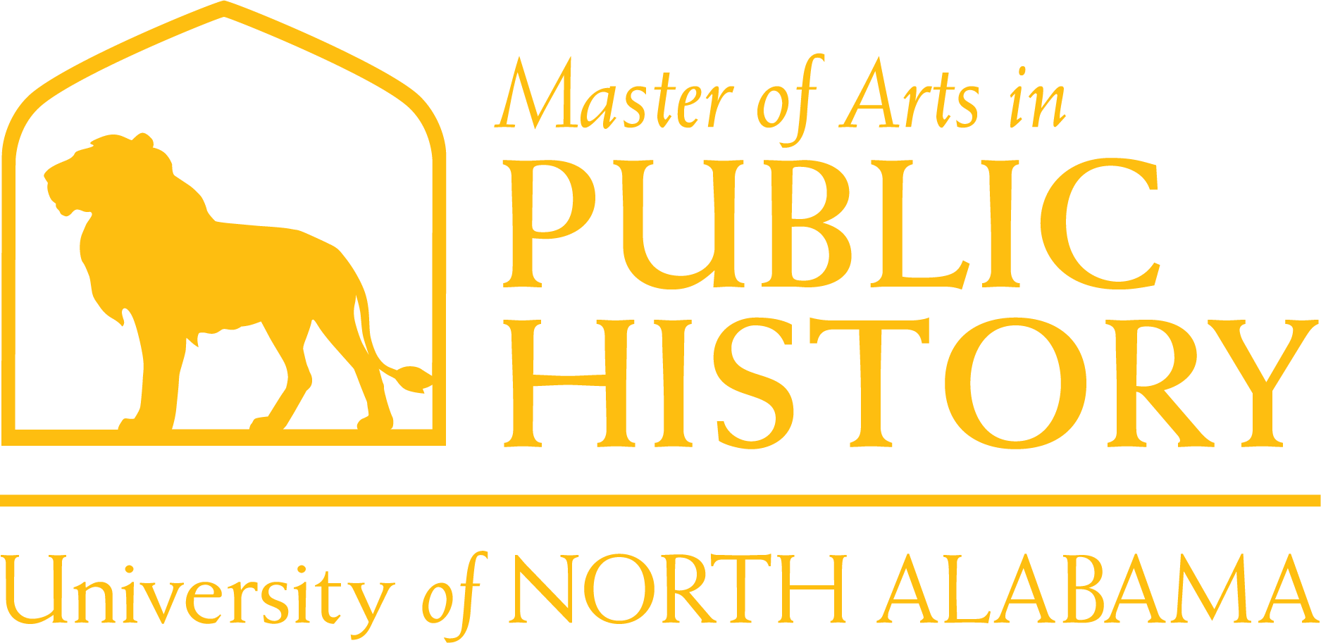 Public History Masters Dept Logo in Gold