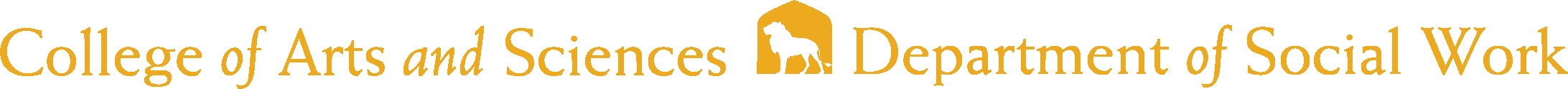 College of Arts and Sciences - Social Work Logo - Gold - Version 2