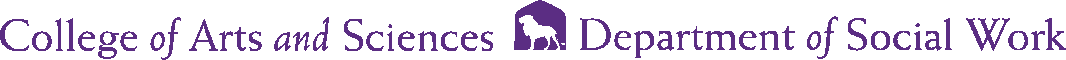 College of Arts and Sciences - Social Work Logo - Purple - Version 2