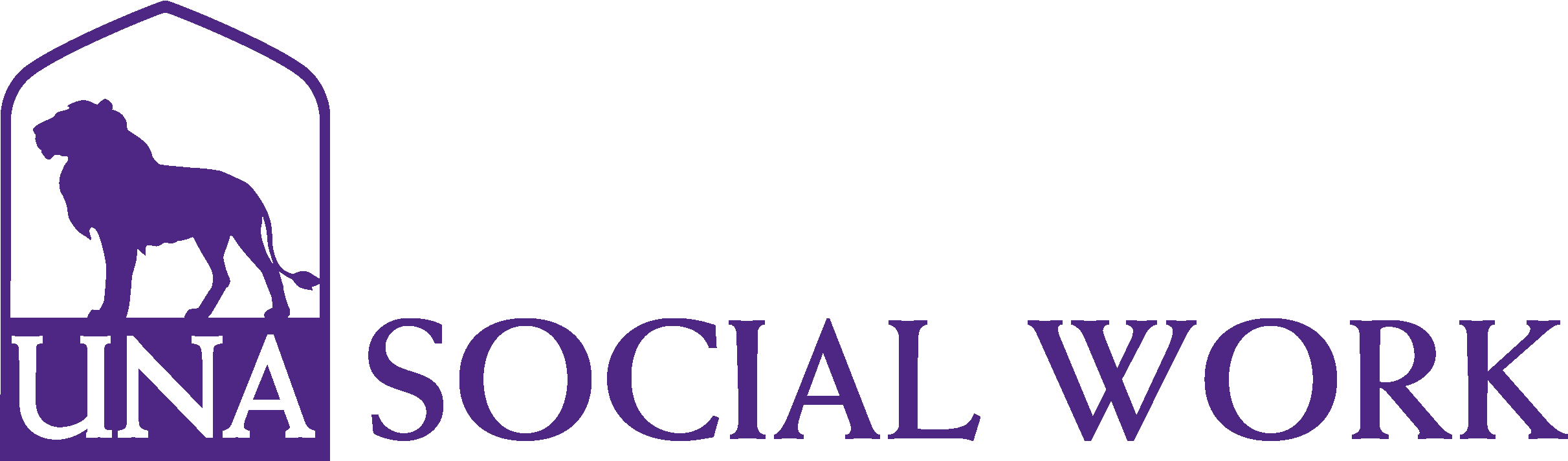College of Arts and Sciences - Social Work Logo - Purple - Version 3