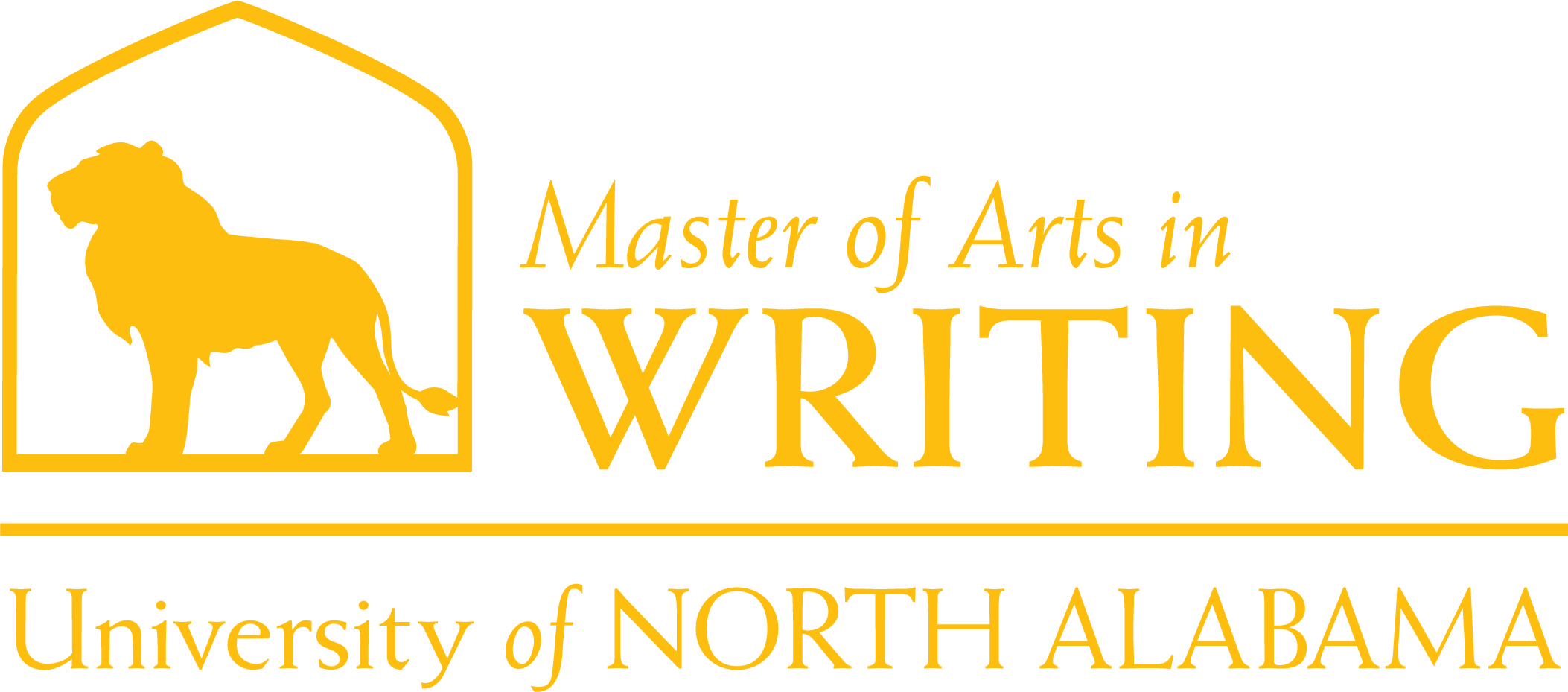Writing Masters Dept Logo in Gold