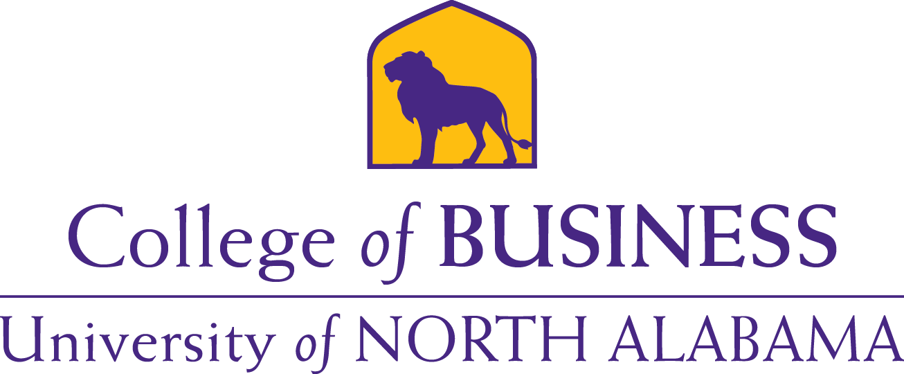 College of Business Lion Purple