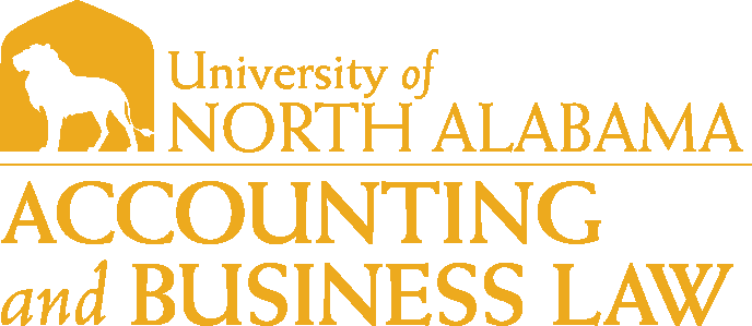 College of Business - Accounting & Business Law Logo - Gold - Version 1