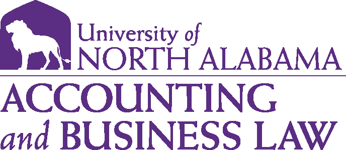 College of Business - Accounting & Business Law Logo - Purple - Version 1
