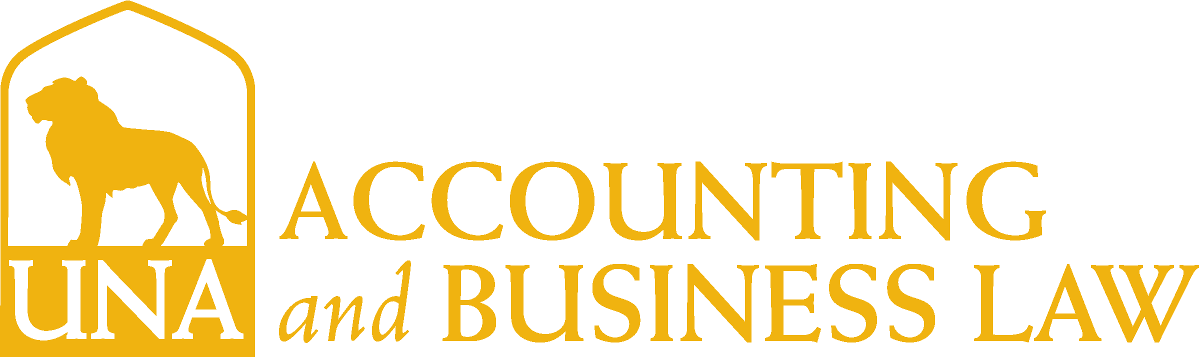 College of Business - Accounting & Business Law Logo - Gold - Version 3