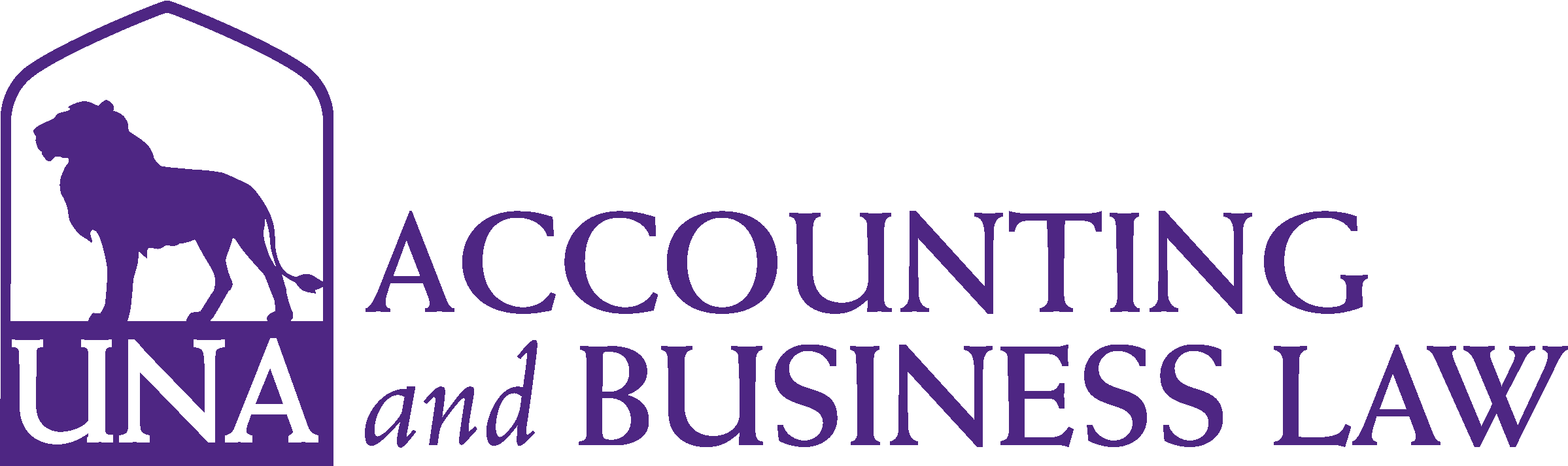 College of Business - Accounting & Business Law Logo - Purple - Version 3