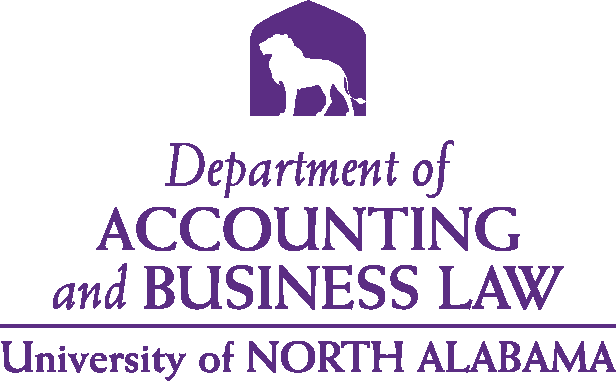 College of Business - Accounting & Business Law Logo - Purple - Version 4
