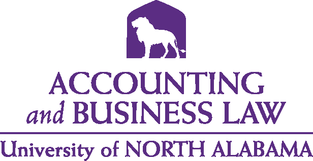 College of Business - Accounting & Business Law Logo - Purple - Version 5