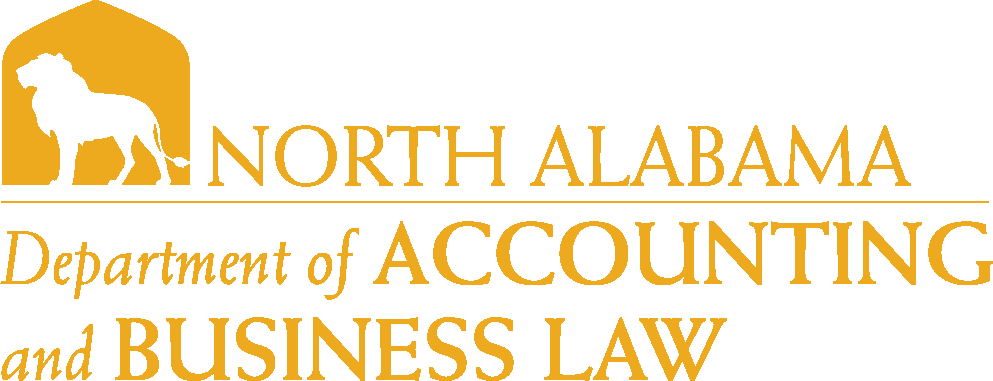 College of Business - Accounting & Business Law Logo - Gold - Version 6