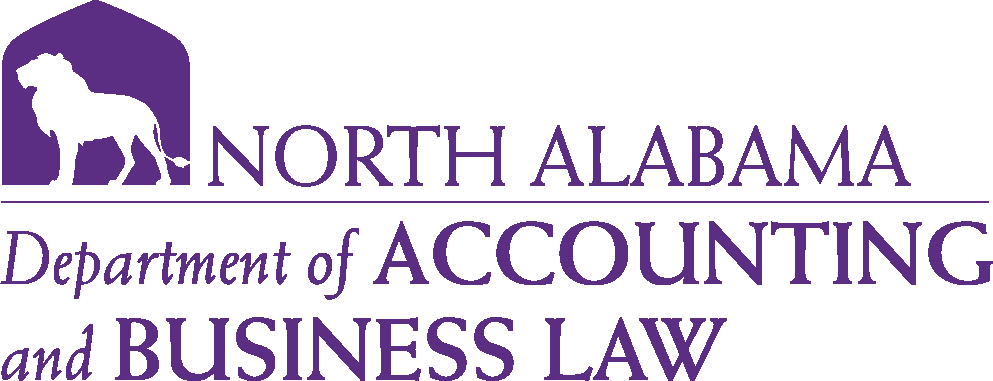 College of Business - Accounting & Business Law Logo - Purple - Version 6