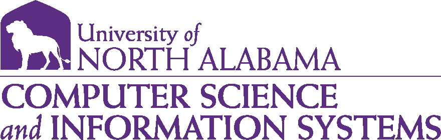 College of Business - Computer Science and Information Systems Logo - Purple - Version 1