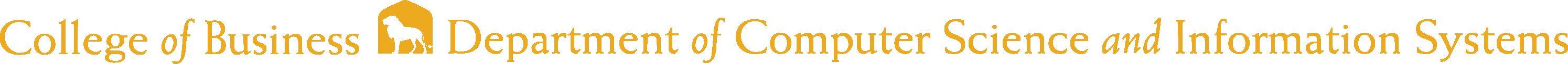 College of Business - Computer Science and Information Systems Logo - Gold - Version 2