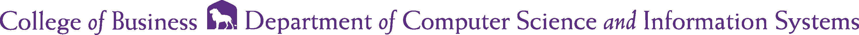 College of Business - Computer Science and Information Systems Logo - Purple - Version 2