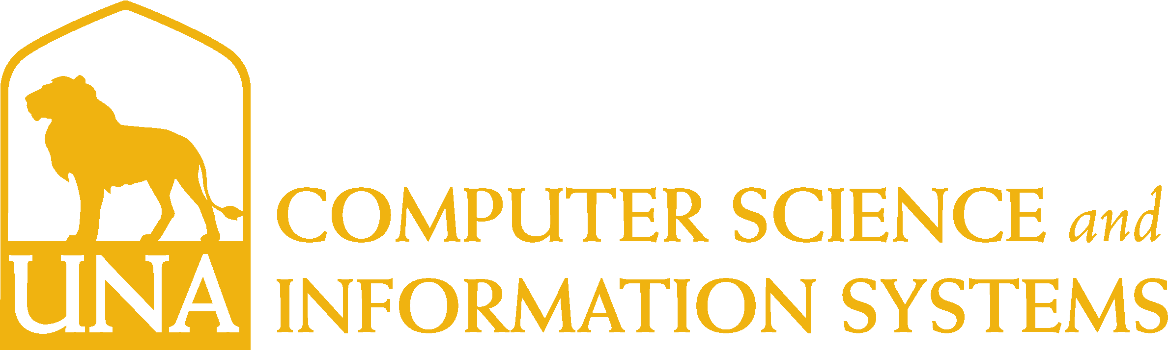 College of Business - Computer Science and Information Systems Logo - Gold - Version 3