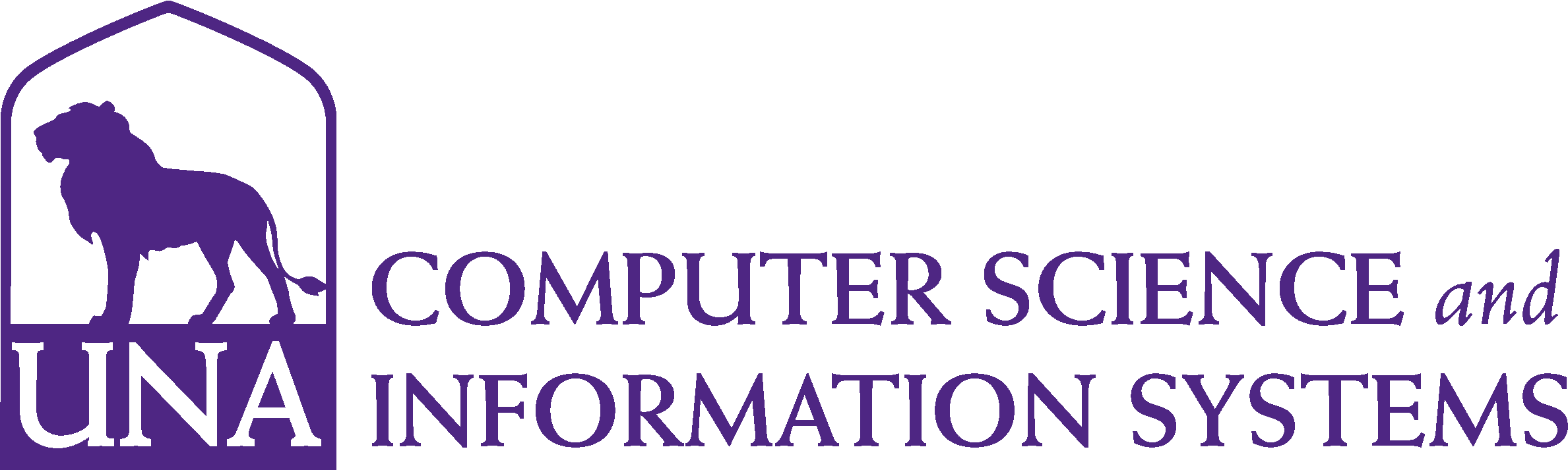 College of Business - Computer Science and Information Systems Logo - Purple - Version 3