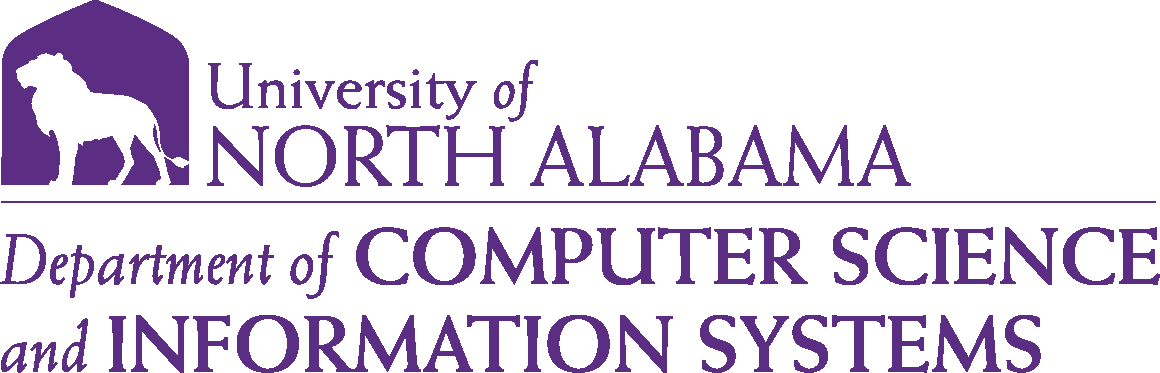 College of Business - Computer Science and Information Systems Logo - Purple - Version 6