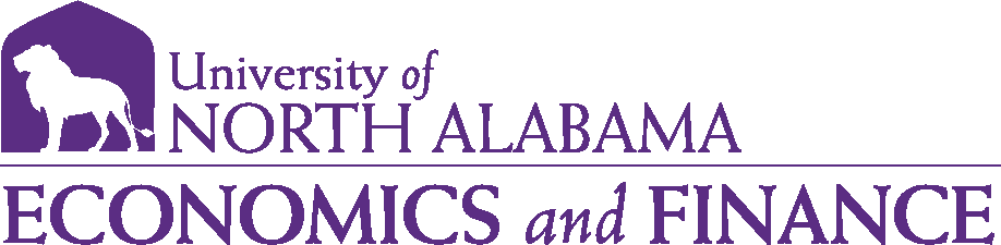 College of Business - Economics and Finance Logo - Purple - Version 1