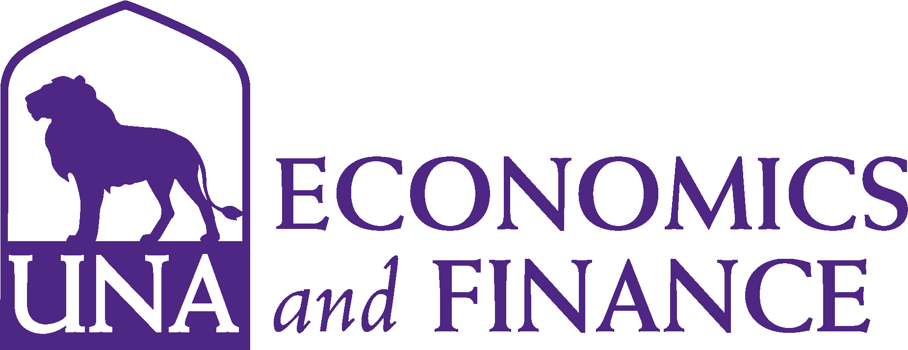 College of Business - Economics and Finance Logo - Purple - Version 3