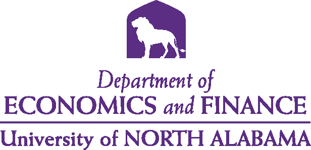 College of Business - Economics and Finance Logo - Purple - Version 4