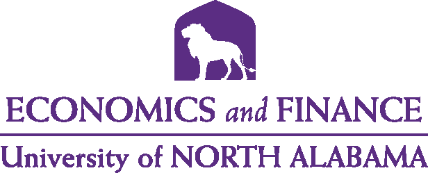 College of Business - Economics and Finance Logo - Purple - Version 5