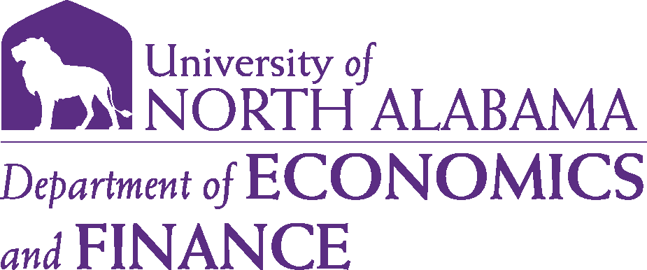 College of Business - Economics and Finance Logo - Purple - Version 6